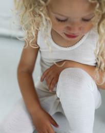 Børne merino uldleggings natur