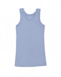 Børne undertrøje - økologisk merino uld blå