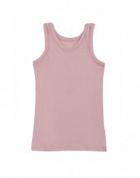 Børne undertrøje - økologisk merino uld lys rosa