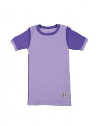 Pige merino uld t-shirt lilla