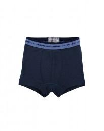 Drenge tights - økologisk merino uld støvet blå