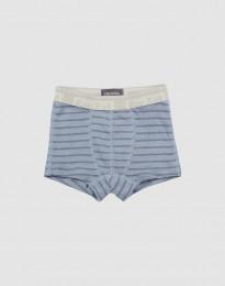 Drenge tights - økologisk merino uld Blåstribet