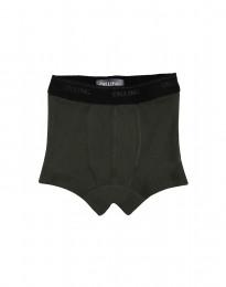 Drenge tights - økologisk merino uld mørk grøn