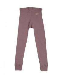Børne leggings - økologisk merinould mørk rosa