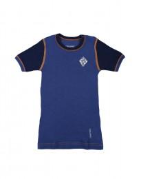 Drenge merinould t-shirt mørk blå