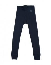 Børne leggings - økologisk merinould støvet blå