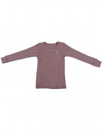 Børne trøje - økologisk merino mørk rosa