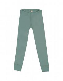 Børne leggings - økologisk merino uld lys grøn
