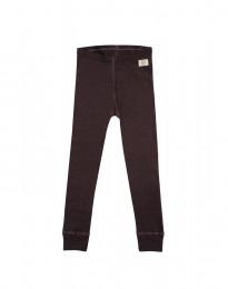 Børne leggings - økologisk merino uld mørk lilla
