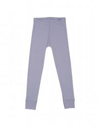 Børne leggings - økologisk merino uld lys lilla