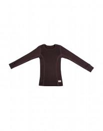 Børne trøje - økologisk merino uld mørk lilla