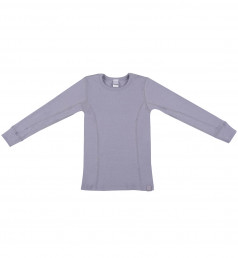 Børne trøje - økologisk merino uld lys lilla
