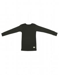 Børne trøje i økologisk merino uld mørk grøn