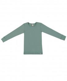 Børne trøje - økologisk merino uld lys grøn
