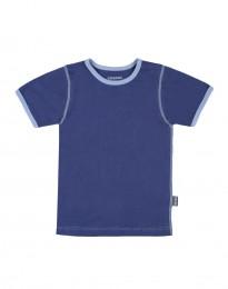 Bomulds t-shirt til drenge mørkeblå