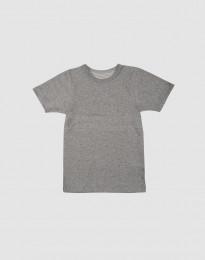 Børne T-shirt i økologisk bomuld gråmelange