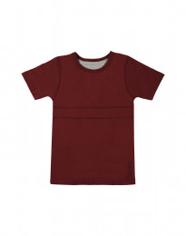 Børne T-shirt i økologisk bomuld bordeaux rød