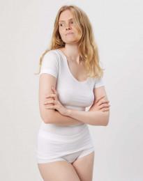 Bomulds t-shirt dame hvid