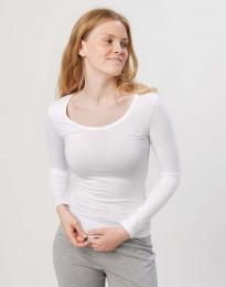 Bluse til kvinder i bomuld hvid