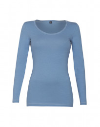 Bluse til kvinder i bomuld blå