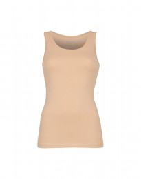 Tank top dame bomuld beige