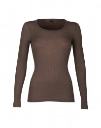 Merino trøje til kvinder i rib fudge