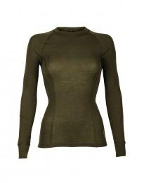 Merino trøje med høj halsudskæring army grøn