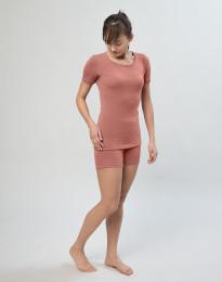 Merino uldshorts til damer mørk rosa