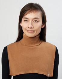 Halsedisse til kvinder i økologisk merino uld karamel