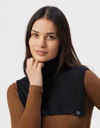 Halsedisse til kvinder i økologisk merino uld sort