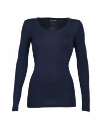 Trøje til Damer - økologisk merino uld støvet blå