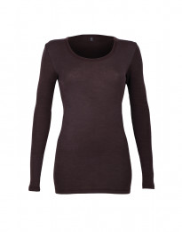 Trøje til damer - økologisk merino uld mørk lilla