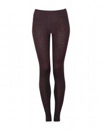 Leggings til damer - økologisk merino uld mørk lilla