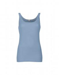Merino uldstroptop til damer lys blå