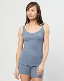 Merino uldstroptop til damer blå