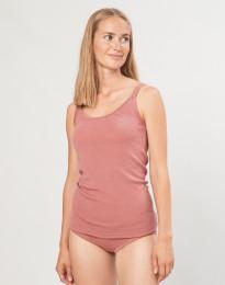 Merino uldstroptop til damer mørk rosa