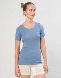 Merino t-shirt til damer blå