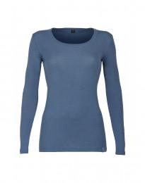 Trøje til damer - økologisk merino uld Dueblå