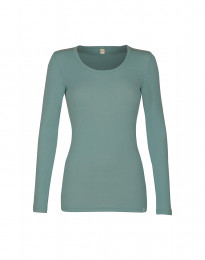 Trøje til damer - økologisk merino uld lys grøn