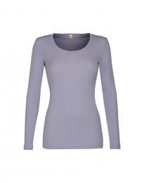 Trøje til damer -økologisk merino uld lys lilla