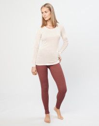 Merino uldleggings til damer rouge