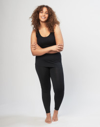 Store DILLING uld leggings damer sort
