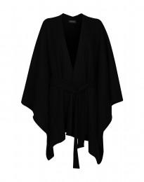 Poncho i filtet uld sort
