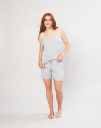 Natshorts til kvinder i økologisk uld/silke grå