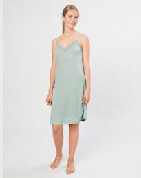 Natkjole til kvinder i økologisk uld/silke pastelgrøn