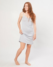 Natkjole til kvinder i økologisk uld/silke grå