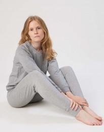 Sweatshirt til damer i bomuld gråmelange