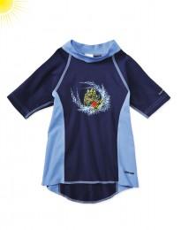 UV-beskyttelses t-shirt til drenge blå