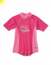 UV-beskyttelses t-shirt til pige pink