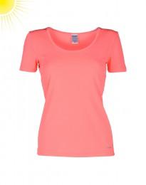 UV-beskyttelses T-shirt til damer o-neck coral